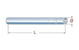 Tube de fourche CB 650 Custom, 81-82