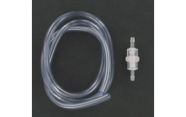 Kit durite essence 5x8 transparente 1 mètre + filtre essence cylindrique D6