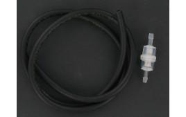 Kit durite essence 6x9 noire 1 mètre + filtre essence cylindrique D6