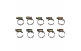 Sachet de 10 colliers de serrage metal ajouré 9x14 largeur 5mm