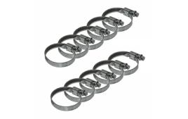 Sachet de 10 colliers de serrage metal à cremaillere 32x50