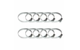 Sachet de 10 colliers de serrage metal à cremaillere 50x70