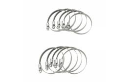 Sachet de 10 colliers de serrage metal à cremaillere 60x80