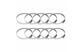 Sachet de 10 colliers SERFLEX de serrage metal à cremaillere 80x100