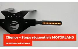 Clignos + stops séquentiels MOTORLAND