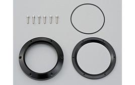 Aluminium kit de cerclage, noir anodisé, pour VELONA compteur.