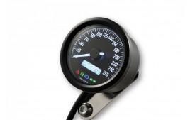 DAYTONA Digital compteur vitesse VELONA 2 noir 60 mm 9000 rpm, avec support, avec temoin lumineux de passage de rapport