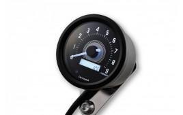 DAYTONA Digital compteur vitesse VELONA 2, noir 60 mm 15000 rpm, avec support, avec temoin lumineux de passage de rapport