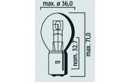 Ampoule 12V 45/40W BA20D