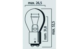Boîte 10 ampoules 12V 21/5W BAY15D