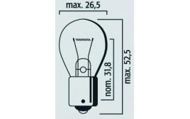 Boîte 10 ampoules 12V 21W BA15S