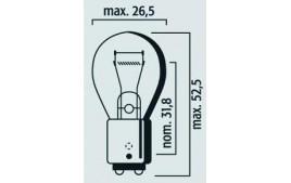 Boîte 10 ampoules 6V 21/5W BAY15D