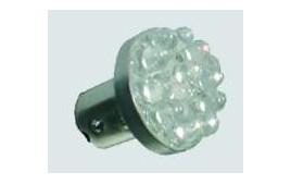 Ampoule de leds ROUGE 12V 1/2W BAY15D