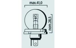 Ampoule 6V 45/40W P45T R2 CODE EUROPÉEN