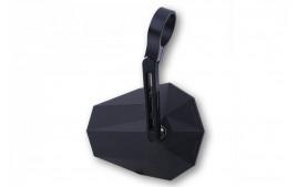 Rétroviseur HIGHSIDER STEALTH -X5, court noir embout de guidon