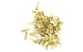 Sachet de 100 Cosses PLATES Laiton FEMELLES 4,8mm