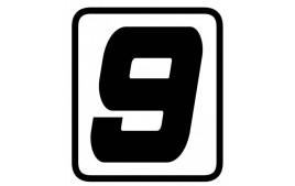 "AUTOCOLLANT NUMERO ""9"" BARRACUDA"