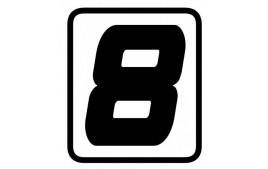 "AUTOCOLLANT NUMERO ""8"" BARRACUDA"