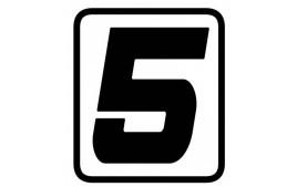 "AUTOCOLLANT NUMERO ""5"" BARRACUDA"
