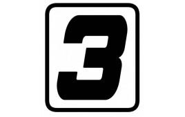 "AUTOCOLLANT NUMERO ""3"" BARRACUDA"