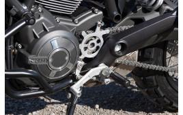 LSL Brake / Shift pedal DUCATI Scrambler, silver
