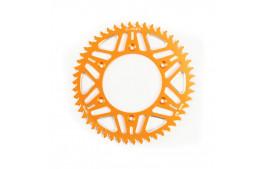 Couronne Alu S-TEEL  Anti-Boue KTM Pas 428 Orange 50 dents