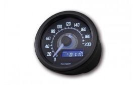 Daytona VELONA 60 Compteur de vitesse noir 200 km / h / MPH.