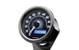 Daytona VELONA 60 Compteur de vitesse chrome 200 km / h / MPH. (réf. 18319)