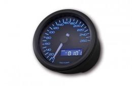 Daytona VELONA 60 Compteur de vitesse noir 260 km / h / MPH. (réf. 18306)