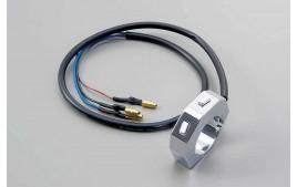 DAYTONA Commodo CNC externe avec 2 boutons poussoirs, chrome, pour guidon 7/8 et 1 pouce (réf. 46302)