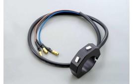 DAYTONA Commodo CNC externe avec 2 boutons poussoirs, noir, pour guidon 7/8 et 1 pouce (réf. 46300)