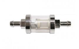 Filtre à essence en métal chromé Ø 8 mm