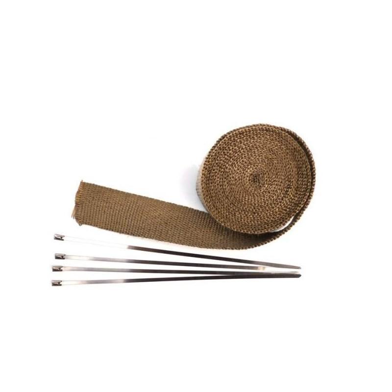 bande thermique echappement bronze 25mm de largeur europ 39 acc. Black Bedroom Furniture Sets. Home Design Ideas