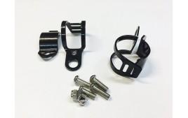 Paire de colliers Ø 30-45 mm - NOIRS