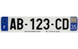 Plaque plexi AUTO 520 x 110 mm