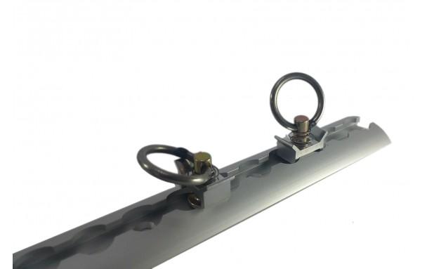 Rail aluminium 1m AERO + 2 anneaux