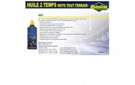 Huile 2 Temps MX7 spéciale cross, 100% synthèse, 1L PUTOLINE