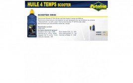 Huile 4 Temps scooter 4T+5W40 , synthétique, 125ML PUTOLINE