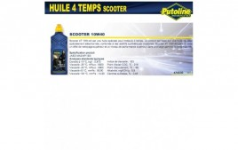Huile 4 Temps scooter 4T 10W40, synthétique, 1L PUTOLINE