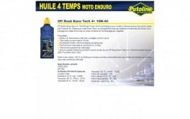 Huile 4 Temps Nano Tech Off Road 4+ 10W40 , 100% synthèse, 1L PUTOLINE