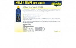 Huile 4 Temps Nano Tech Off Road 4+ 10W50, 100% synthèse, 1L PUTOLINE