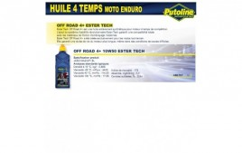 Huile 4 Temps Off Road 4+ 10W50 ester tech , 100% synthèse, 1L PUTOLINE