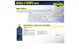 Huile 4 Temps Nano Tech 4+ 10W30 , 100% synthèse, 1L PUTOLINE