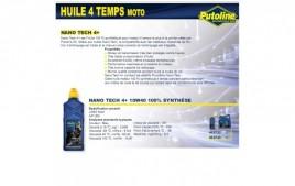 Huile 4 Temps Nano Tech 4+ 10W40 , 100% synthèse, 4L PUTOLINE