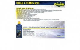 Huile 4 Temps syntec 4+ 10W50, 100% synthèse, 1L PUTOLINE