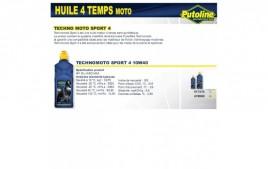 Huile 4 Temps sport 4 10W40 , semi-synthétique, 4L PUTOLINE