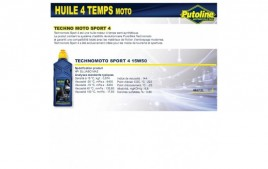 Huile 4 Temps sport 4 15W50 , semi-synthétique, 1L PUTOLINE