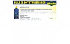 Huile ATF dexron iii, , 1L PUTOLINE