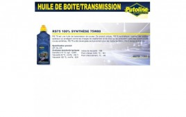 Huile rs75 75W80 , 100% synthèse, 1L PUTOLINE