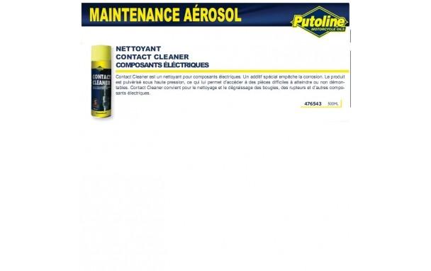 Nettoyant contact spécial composant electriques (aerosol), , 500ML PUTOLINE